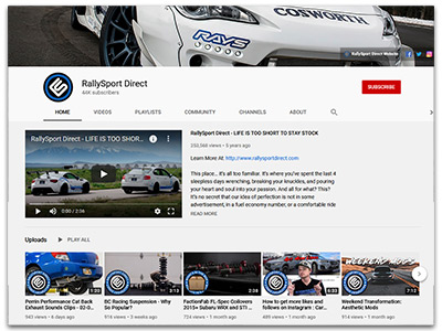 RallySport Direct YouTube Page
